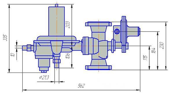 регуляторы давления газа рднк-50