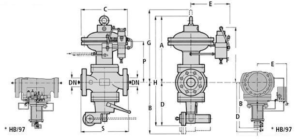 Регулятор давления газа серии REFLUX 819/FQ